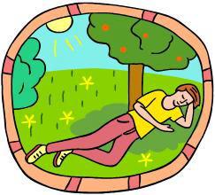 木陰で眠る